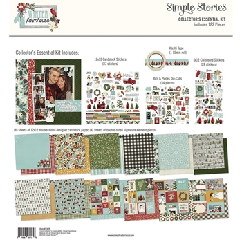Simple Stories WINTER FARMHOUSE 12 x 12 Collector's Essential Kit 11629