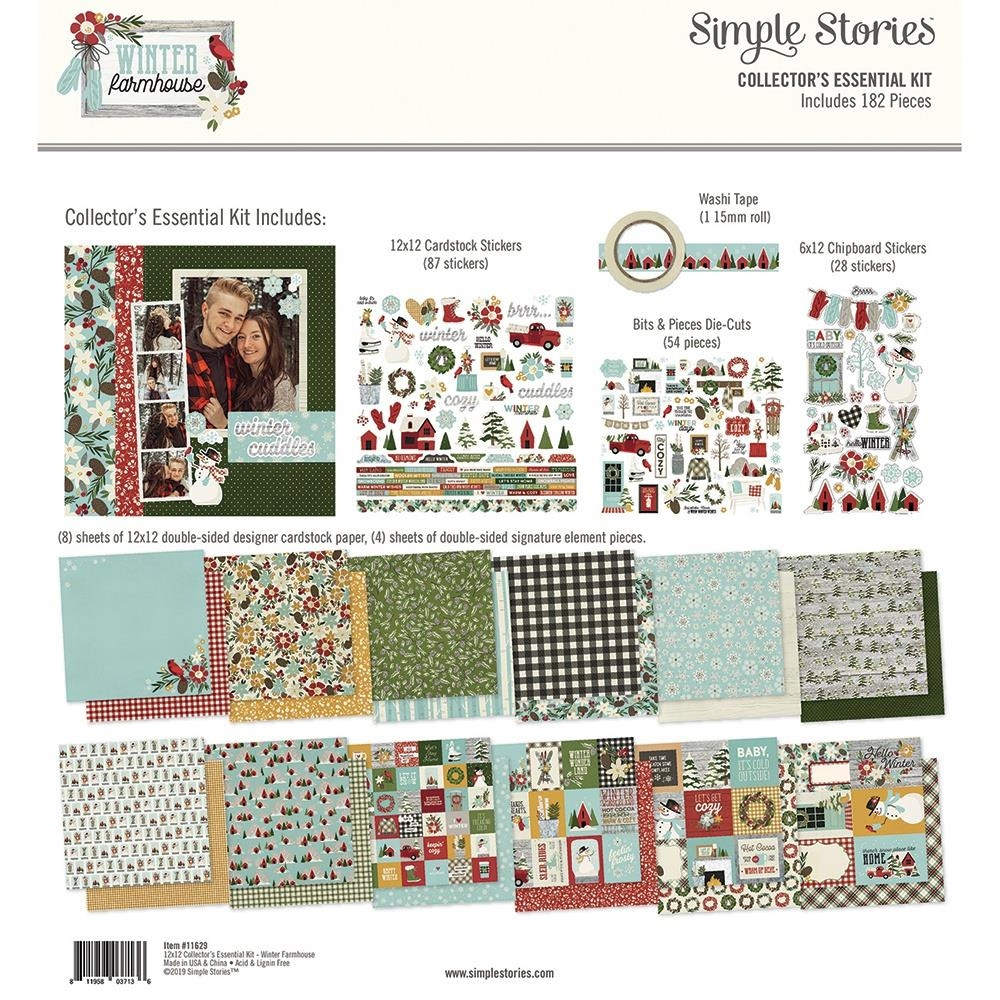Simple Stories WINTER FARMHOUSE 12 x 12 Collector's Essential Kit 11629 zoom image