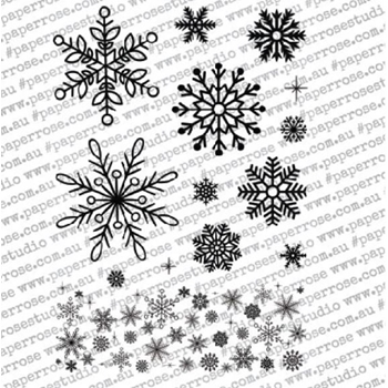 Paper Rose CHRISTMAS SNOWFLAKES Clear Stamps 18228