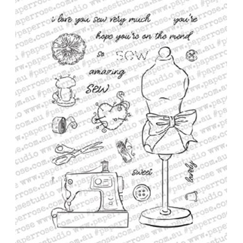 Paper Rose SEW LOVELY Clear Stamps 18315