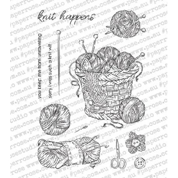 Paper Rose KNIT HAPPENS Clear Stamps 18318