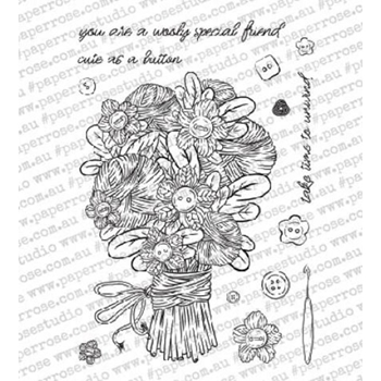 Paper Rose WOOLY SPECIAL FRIEND Clear Stamps 18321
