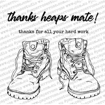 Paper Rose WORK BOOTS Clear Stamps 18330