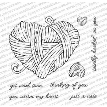 Paper Rose HOOKED ON YOU Clear Stamps 18327