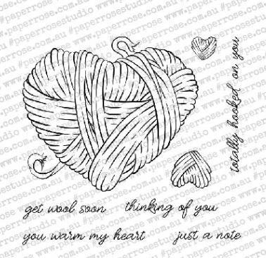 Paper Rose HOOKED ON YOU Clear Stamps 18327 zoom image