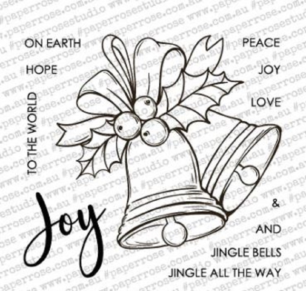 Paper Rose CHRISTMAS BELLS Clear Stamps 18339 zoom image