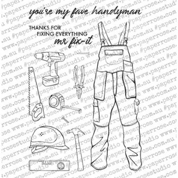 Paper Rose HANDYMAN ELEMENTS Clear Stamps 18384