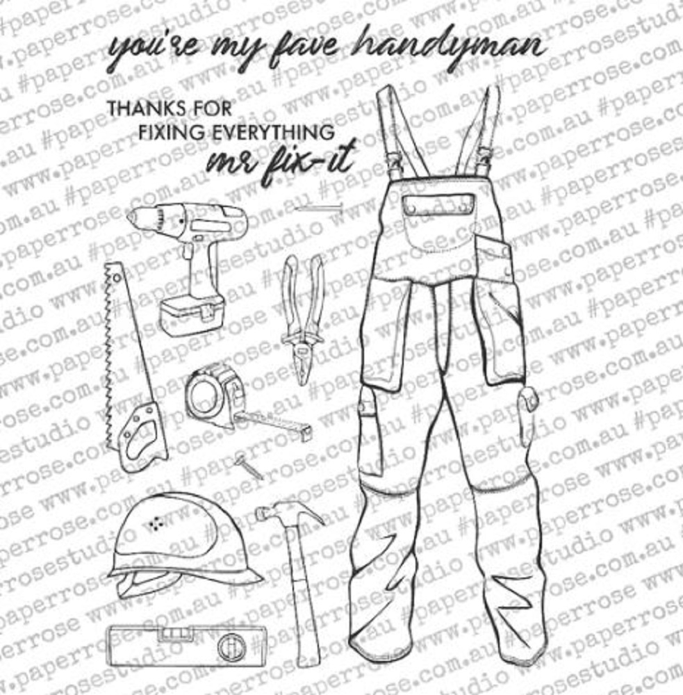 Paper Rose HANDYMAN ELEMENTS Clear Stamps 18384 zoom image