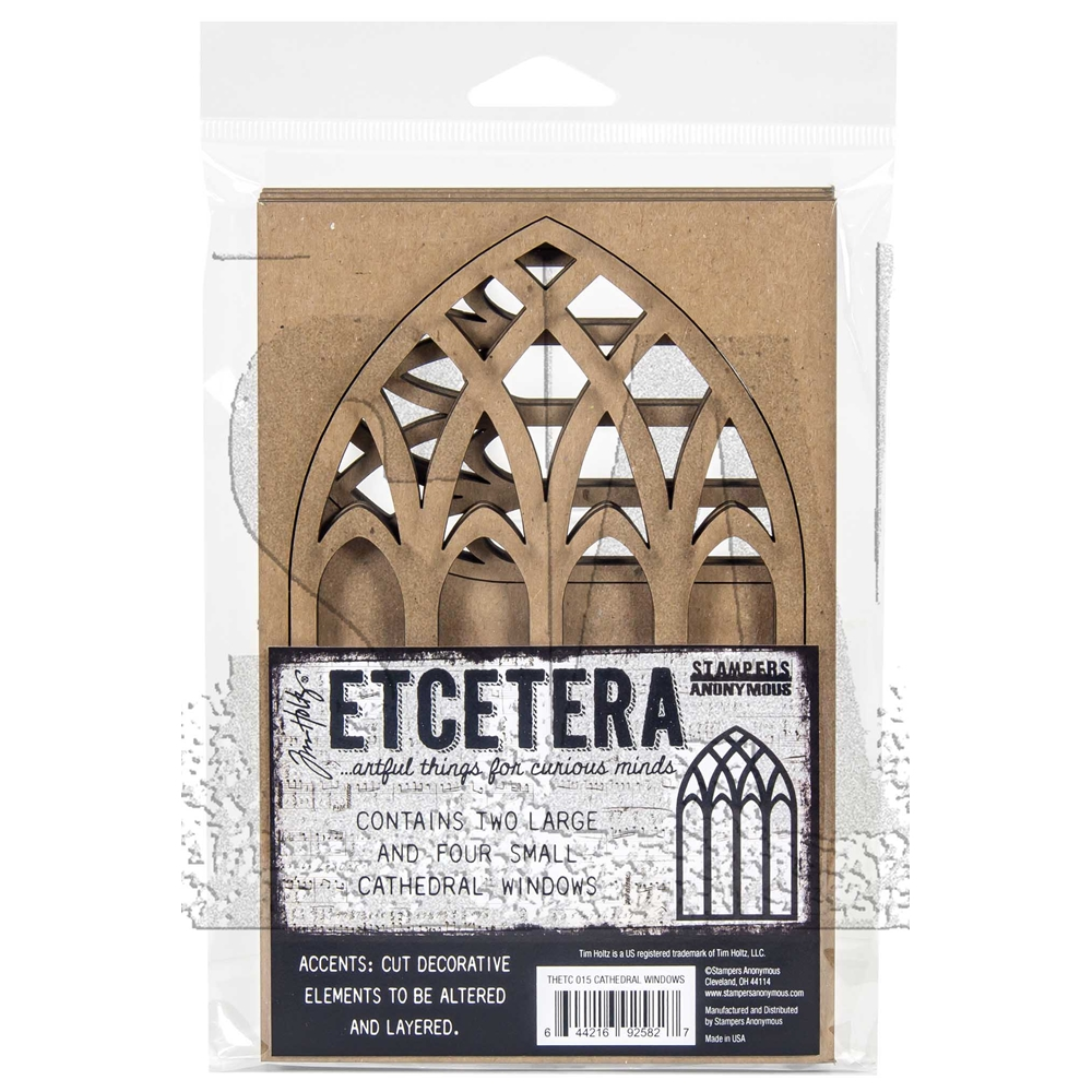 Tim Holtz Etcetera CATHEDRAL Thickboards ETC015 zoom image