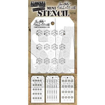Tim Holtz Shifter MINI STENCIL SET 45 MST045