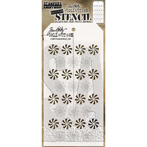 Tim Holtz Layering Stencil SHIFTER PEPPERMINT THS137 Preview Image