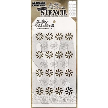Tim Holtz Layering Stencil SHIFTER PEPPERMINT THS137