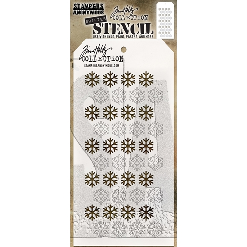 Tim Holtz Layering Stencil SHIFTER SNOWFLAKE THS135 Preview Image