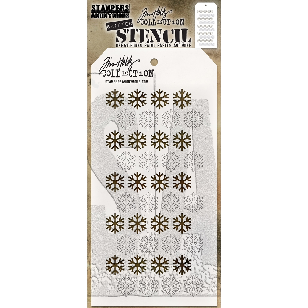 Tim Holtz Layering Stencil SHIFTER SNOWFLAKE THS135 zoom image