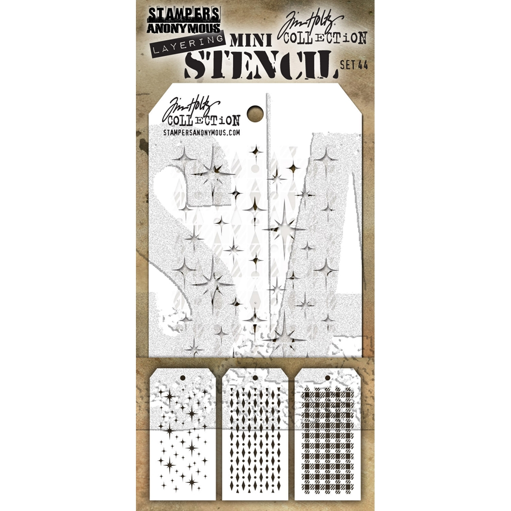 Tim Holtz MINI STENCIL SET 44 MST044 zoom image