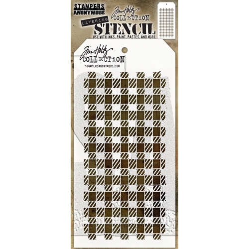 Tim Holtz Layering Stencil GINGHAM THS134 Preview Image