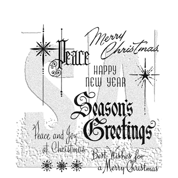 Tim Holtz Cling Rubber Stamps CHRISTMASTIME 2 CMS389