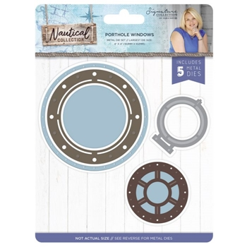 Crafter's Companion PORTHOLE WINDOWS Nautical Die Set s-naut-md-port