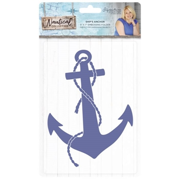 Crafter's Companion SHIP'S ANCHOR Embossing Folder Nautical s-naut-ef5-shan