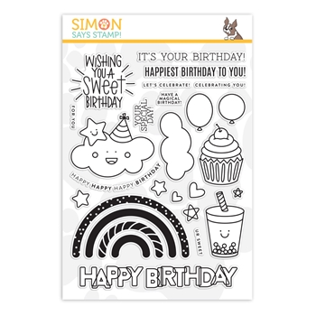 Simon Says Clear Stamps SWEET BIRTHDAY sss201904