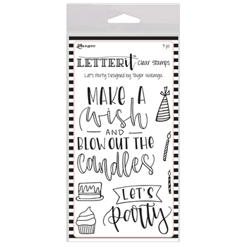 Ranger LET'S PARTY Letter It Stamp Set lec68136