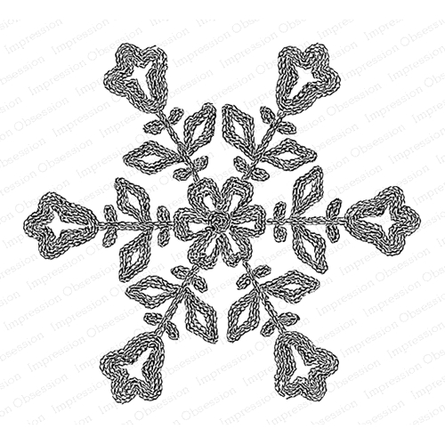 Impression Obsession Cling Stamp FLORAL SNOWFLAKE G20763 Preview Image