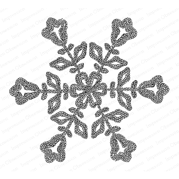 Impression Obsession Cling Stamp FLORAL SNOWFLAKE G20763