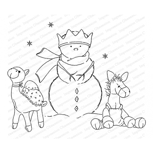 Impression Obsession Cling Stamp FAMILY LOVE J20768 Preview Image