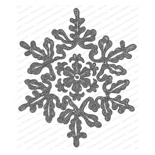 Impression Obsession Cling Stamp ELEGANT SNOWFLAKE L20771 Preview Image