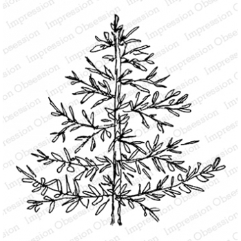 Impression Obsession Cling Stamp SKETCHED TREES D20761