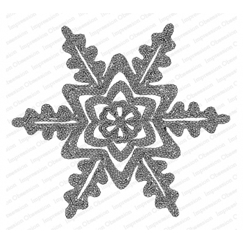 Impression Obsession Cling Stamp RIBBON SNOWFLAKE H20762