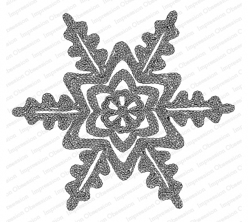 Impression Obsession Cling Stamp RIBBON SNOWFLAKE H20762 zoom image