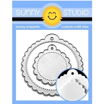 Sunny Studio SCALLOPED TAGS CIRCLE Dies SSDIE-170