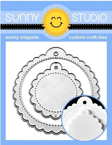 Sunny Studio SCALLOPED TAGS CIRCLE Dies SSDIE-170 zoom image