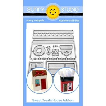 Sunny Studio SWEET TREAT HOUSE ADD-ON Dies SSDIE-173