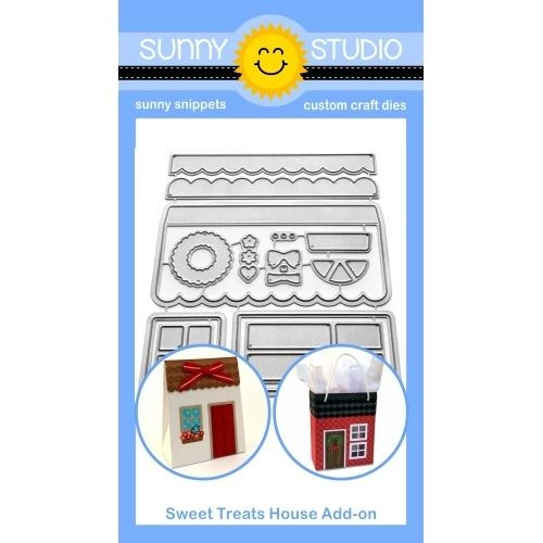 Sunny Studio SWEET TREAT HOUSE ADD-ON Dies SSDIE-173 zoom image