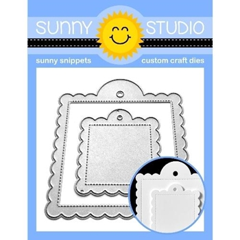 Sunny Studio SCALLOPED TAGS SQUARE SSDIE-169