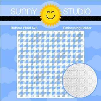 Sunny Studio BUFFALO PLAID Embossing Folder SSMB-107