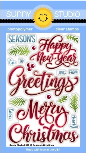 Sunny Studio SEASON'S GREETING Clear Stamps SSCL-243* zoom image