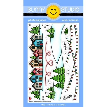Sunny Studio SCENIC ROUTE Clear Stamps SSCL-247