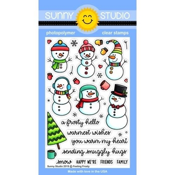 RESERVE Sunny Studio FEELING FROSTY Clear Stamps SSCL-245