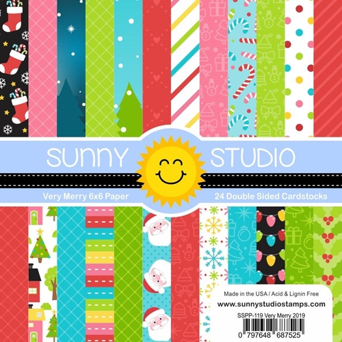 Sunny Studio VERY MERRY Paper Pad SSPP-119 Preview Image