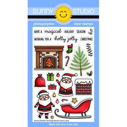Sunny Studio SANTA CLAUSE LANE Clear Stamps SSCL-244 zoom image