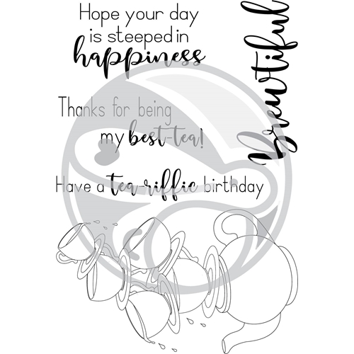 The Rabbit Hole Designs STEEPED IN HAPPINESS Clear Stamps TRH-33* Preview Image