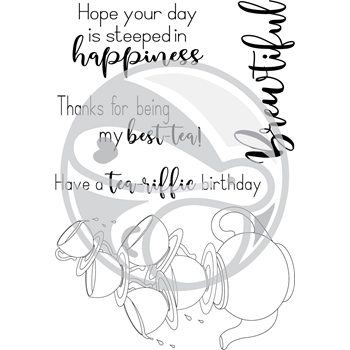The Rabbit Hole Designs STEEPED IN HAPPINESS Clear Stamps TRH-33