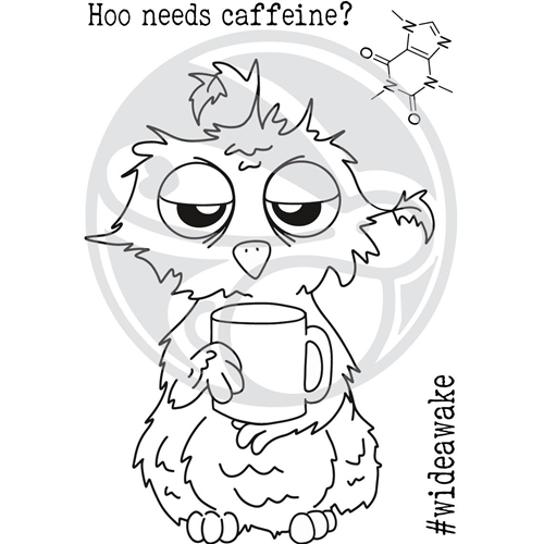The Rabbit Hole Designs CAFFEINATED OWL Clear Stamps TRH-37 Preview Image