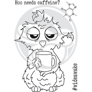 The Rabbit Hole Designs CAFFEINATED OWL Clear Stamps TRH-37