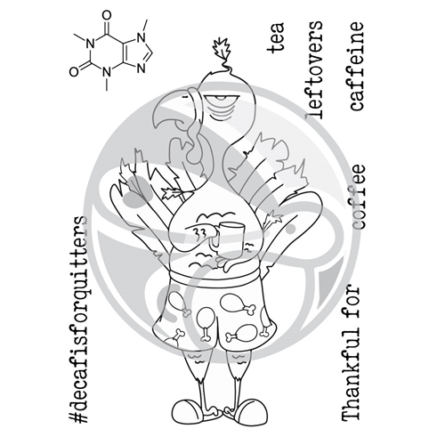 The Rabbit Hole Designs CAFFEINATED TURKEY Clear Stamps TRH-31 Preview Image
