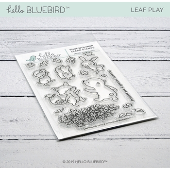Hello Bluebird LEAF PLAY Clear Stamps hb2210