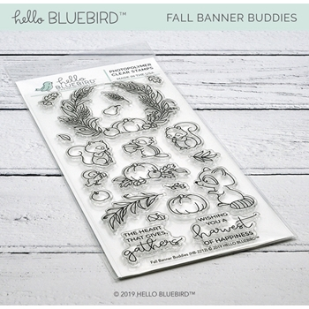 Hello Bluebird FALL BANNER BUDDIES Clear Stamps hb2212